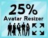 Avatar Scaler 25%