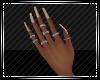 Cream Nails w Rings