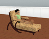 brown suede luv lounger