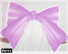 f lilac bow