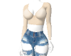 Ripped jean outfit