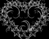 silver star heart