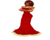 Christmas Red/Gold Gown
