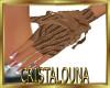 Winter brown half gloves