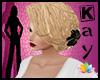 Blond with black flower