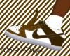 {SQ}Brown/white Nikes
