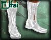 E~ Silver White Boots