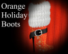Orange Holiday Boots