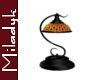 MLK Black Scroll Lamp