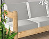 e Wood sofa