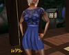 [WPh] F Dress Lace Fl BL