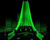 toxic green curtain deco