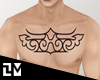 . AINU CHEST TATTOO