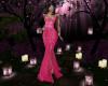 Embellished Fuschia Gown
