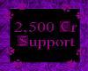 2.5 Support Sticker