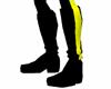 Black Yellow  Boots