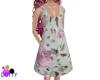 petite grey floral dress