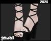 Black Strappy Platform