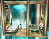 teal lux add on shower
