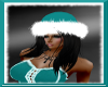 Teal Santa Helper Hat