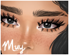 m. Full lashes+freckles