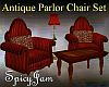 Antq ParlorChair Set Red
