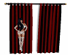 Red & Black Curtains
