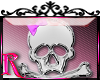 *R* Girly Skull Sticker