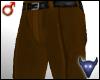 Brown suit pants (m)