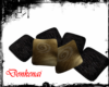 [DK] Pillows Black Gold