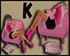 F Sleep Chair Pink zZZ