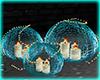 Teal Candle Light Balls