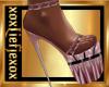 [L] Pink Latex Heels