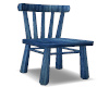 Worn Blue Wood Chair