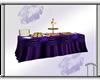 Purple Buffet Table