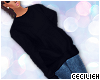 ! baggy sweater - blk