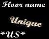 Unique Floor Name