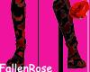 Boot Red w/black design