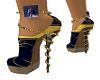 Golden Blue Heels