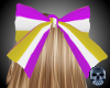 Purp White Gold Hairbow!