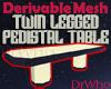 Twin Pedestal Table Mesh