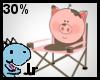 30% piggy camping chair
