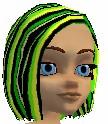NeonGreenBlck Hair