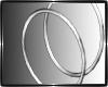 }CB{ Silver Hoops