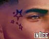 iD! Stars Face Tattoo M