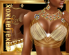 [L] Gold White Sexy Top