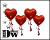 D- Heart Balloons