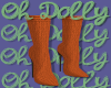 Sweater Booties Orange