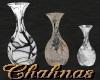 Cha`R/Acres Trio Vases