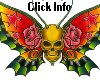 Skull Butterfly Sparkle